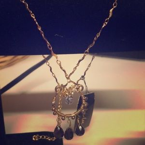 Cookie Lee golden pendant necklace